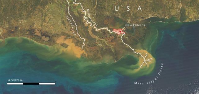 MississippiRiver-sediment-washout.WorldOceanReview